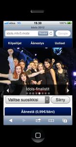 Idols äänestys - mobiilipalvelu
