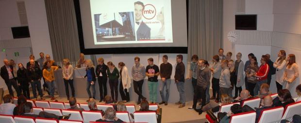 Kiitostilaisuus MTV:n auditoriossa 5.11.2013.