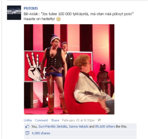 Tämä kuva näkyi yli 750 000 Facebook-käyttäjälle orgaanisesti